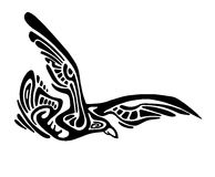 Ethnic flying wild eagle Stock Image