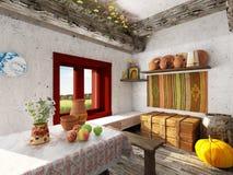 Ethnic Folk  Interior Stock Image
