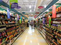 Ethnic food aisle. Royalty Free Stock Images