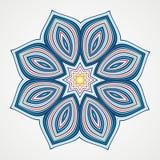 Ethnic Fractal Mandala Stock Photo