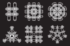 Ethnic Fractal Mandala Vector Meditation looks like Snowflake or Royalty Free Stock Image