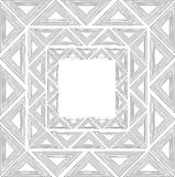 Ethnic frame ornament with triangles. Eps 10 Royalty Free Stock Photography