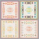Ethnic Frames Vector Set. Tribal Vector. Navajo Stile Frame Set. Royalty Free Stock Photos