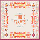 Ethnic Frames Vector. Tribal Vector. Navajo Stile Frame. Tribal Vintage Ethnic Ornament. Hand Drawn Ethnic Frame. Royalty Free Stock Photo