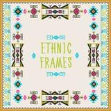 Ethnic Frames Vector. Tribal Vector. Navajo Stile Frame. Tribal Vintage Ethnic Ornament. Stock Image
