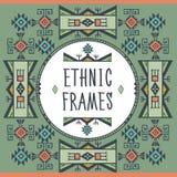 Ethnic Frames Vector. Tribal Vector. Navajo Stile Frame. Tribal Vintage Ethnic Ornament. Stock Photo