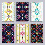 Ethnic Geometric Banner Set Royalty Free Stock Image