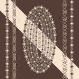 Ethnic geometric design. Elements of the border. Vector illustration. Royalty Free Stock Photos