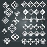 Ethnic geometric design set. Royalty Free Stock Photography