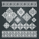 Ethnic geometric design set Royalty Free Stock Photos