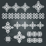 Ethnic geometric design set Royalty Free Stock Image