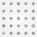 Ethnic geometric icons set Royalty Free Stock Photography