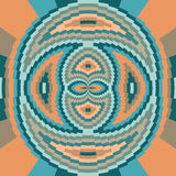 Ethnic geometric ornament.  background Stock Images