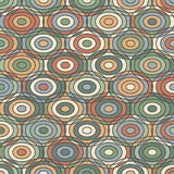 Ethnic geometric ornamental Pattern with Circles Stock Photography