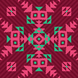 Ethnic geometric seamless ornament Royalty Free Stock Images