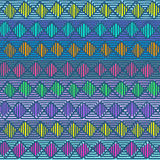 Ethnic geometric seamless pattern Stock Photography
