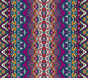 Ethnic geometric striped seamless tribal  pattern Royalty Free Stock Photos