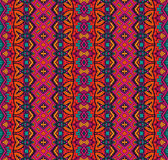 Ethnic geometric striped seamless tribal  pattern Stock Images