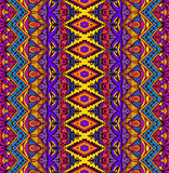 Ethnic geometric striped seamless tribal  pattern Royalty Free Stock Images
