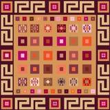Ethnic geometrical background Royalty Free Stock Photography