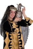 Ethnic Girl. An ethnic girl wearing traditional clothing and carrying water in her copper jug Royalty Free Stock Photo