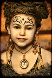 Ethnic girl. Girl with dreadlocks and clothing ethnic style stock image