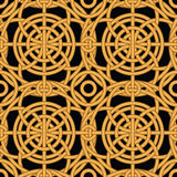 Ethnic gold interlaced - seamless vector pattern Royalty Free Stock Photo