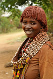Ethnic  Hamer woman in the traditional dress from Ethiopia Stock Photos