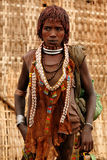 Ethnic  Hamer woman in the traditional dress from Ethiopia Royalty Free Stock Photos