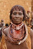 Ethnic  Hamer woman in the traditional dress from Ethiopia Stock Image