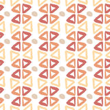 Ethnic hand drawn pattern with triangle ink elements. Seamless texture Stock Image