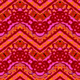 Ethnic hand drawn pattern with zigzag lines Royalty Free Stock Photography