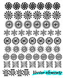 Ethnic hand drawn vector line border set and hipster scribble design element.  Doodle style. Royalty Free Stock Photos