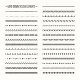 Ethnic hand drawn vector line border set and royalty free stock image