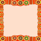 Ethnic hand painted square frame. Stock Images