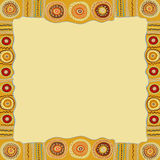 Ethnic hand painted square frame. Royalty Free Stock Photo