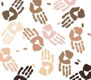 Ethnic hand prints Stock Image