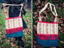 Ethnic handmade bag. An ethnic colour handmade bag royalty free stock image