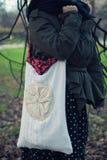 Ethnic handmade bag. An ethnic white handmade bag Stock Photo