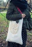 Ethnic handmade bag. An ethnic white handmade bag Royalty Free Stock Image