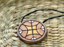 Ethnic handmade clay amulet Royalty Free Stock Photography