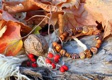 Ethnic handmade clay bracelet Stock Image
