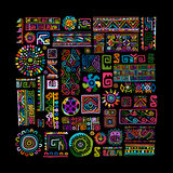 Ethnic handmade colorful ornament for your design Royalty Free Stock Photo
