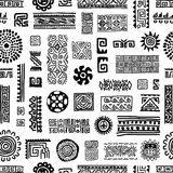 Ethnic handmade ornament, seamless pattern for Royalty Free Stock Photos