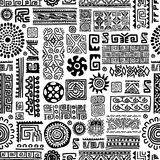 Ethnic handmade ornament, seamless pattern for Royalty Free Stock Photo