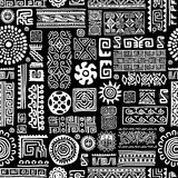 Ethnic handmade ornament, seamless pattern for Stock Photography
