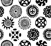 Ethnic handmade ornament, seamless pattern for Stock Images