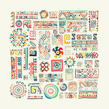Ethnic handmade ornament for your design Royalty Free Stock Photos
