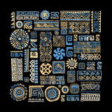 Ethnic handmade ornament for your design Stock Images
