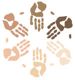 Ethnic hands Stock Images